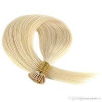 couleur de cheveux blonde achat en gros de-Extensions de cheveux de prébonde 16-24