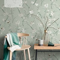 Wholesale paper light meter resale online - High quality Nordic style wallpaper non woven garden flowers floral light luxury living room bedroom TV background wall paper home