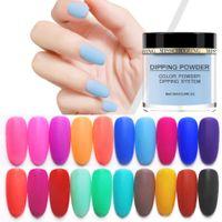 Wholesale acrylic nail powders pink resale online - Polish Nail Art Polymer Acrylic Powder Extension Dipping Powder Nail Art Dust