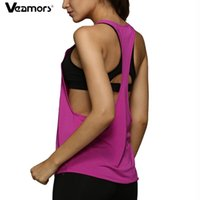 Wholesale women s racerback tank tops for sale - Group buy Racerback Fitness Yoga Vest Loose Sleeveless Sport T Shirt Women Backless Yoga Tank Top Quick Dry Athletic Running