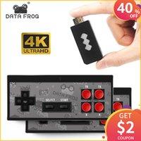 ingrosso dual console-DATA FROG 4K Console per videogiochi HDMI 568 in 1 Mini console retrò Controller wireless Uscita HDMI Lettori doppi