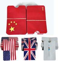 ingrosso usa bandiera della porcellana-Custodia in alluminio di sicurezza Bandiera della Cina Bandiera USA Bandiera del Regno Unito Custodia RFID per identità Protezione antifurto Custodia per carte di credito Porta carte Anti-NFC