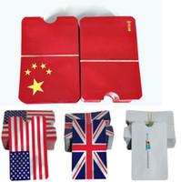 drapeau de la chine achat en gros de-Étui de sécurité en aluminium Drapeau de la Chine Drapeau des États-Unis Drapeau du Royaume-Uni RFID Manchon de carte Protection contre le vol d'identité Manchons de carte de crédit Anti-NFC titulaire de la carte