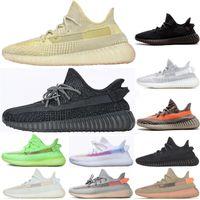 Wholesale black shoe resale online - 2019 Black Static Reflective Antlia Clay Hyperspace True Form Chameleon Mens Running Shoes Kanye West Bred Women Fashion Designer Sneakers