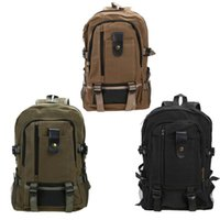 Wholesale canvas mountain bag resale online - Unisex Adjustable Outdoor Bag Canvas Schoolbag Travel Rucksack Mountain Backpack Outdoor Hiking Camping Hunting Travel Bag