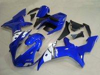 pára-brisa azul para motocicleta venda por atacado-Free Windshield Novo ABS kit de carenagem completa da motocicleta ABS para YAMAHA YZF R1 2002 2003 carenagem YZFR1 02 03 YZF-R1 brilhante azul