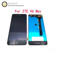 zte v6 venda por atacado-Preto / branco para zte v6 display lcd max + touch screen 5.0 polegadas acessórios do telefone móvel para zte v6 max
