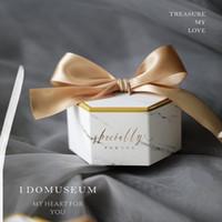 süßigkeiten boxen europa großhandel-Neue Europa Marmor Stil Geschenkbox Baby Shower Birthday Party Pralinenschachtel Süße Schokolade Boxen Hochzeit Gefälligkeiten Dekoration