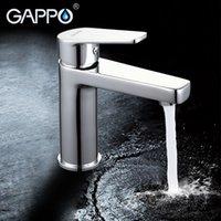 banyo muslukları krom toptan satış-GAPPO su mikser banyo havzası evye bataryası pirinç banyo mikser musluklar modern musluk krom havzası dokunun G1098D