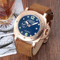 cinto de couro moda venda por atacado-Mens relógios de grife relógios homens marca de luxo relógios de moda à prova d'água homens relógio mecânico automático de couro cinto de relógio dos homens
