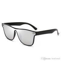 máscaras do sol dos homens venda por atacado-Moda new óculos de sol full frame mens designer de marca verão óculos de sol espelhado óculos uv400 shades com casos