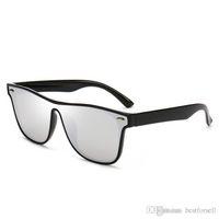ayna gölgeleri güneş gözlüğü toptan satış-Moda Yeni Güneş Gözlüğü Tam Kare Erkek Marka Tasarımcı Yaz Güneş Gözlükleri Aynalı Gözlük UV400 Shades kılıfları ile