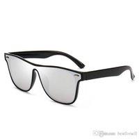 новые летние очки оптовых-Новые модные солнцезащитные очки с оправой для очков Мужская марка Дизайнер Летние солнцезащитные очки Зеркальные очки UV400 Оттенки с футлярами