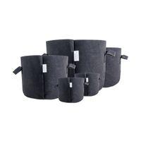 sacos de tecido de feltro venda por atacado-Eco friendly Jardim hidropônico preto 1 2 3 5 7 10 15 20 25 30 galão sentiu batata plantar crescer sacos panelas de tecido com alças