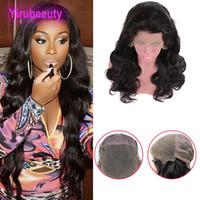 peruk tam kıvırcık toptan satış-Hint İnsan Saç Dantel Peruk Ön Koparıp 8-34 inç Vücut Dalga Tam Dantel Peruk Doğal Renk Vücut Kıvırmak Bakire Saç Ürünleri