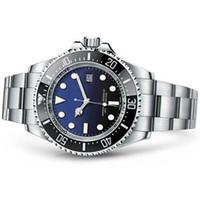 relógios de aço stanless venda por atacado-Homens da forma Relógio De Cerâmica Profunda Bezel SEA-Morador Stanless Aço Com Fecho Automático Relógios Mecânicos relógios de luxo homens relógio de pulso de mergulho