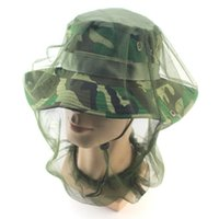 Wholesale protection equipment resale online - Anti mosquito Insect Fly Mask Cap Fashion Head Net Mesh Face Protection Creative Outdoor Fishing Equipment Accessories TTA683