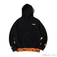 homens alaranjados do hoodie venda por atacado-19SS HP preto laranja de alta qualidade terry algodão monograma patchwork hoodies hoodies para homens e mulheres com correspondência solta hoodies atacado