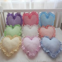 Wholesale wedding car plush for sale - Group buy Soft Plush Cushions Chair Seat Cushion Heart Shape Cosy Pillows Bedding Colorful Home Wedding Cushion Gift Car Office Pillow S M