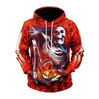 nebelfleck-sweatshirt großhandel-Feuer Schädel Hoodies Männer / Frauen Sweatshirt mit Kapuze 3d Marke Kleidung Cap Hoody Print Paisley Nebula Jacken