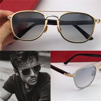 marcos redondos al por mayor-Nuevo diseñador de moda gafas de sol 0012 retro redondo k marco dorado tendencia estilo vanguardista gafas de protección de calidad superior con caja