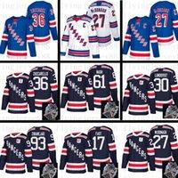 maillot de ryan mcdonagh al por mayor-Nueva York Rangers Jersey 17 Jesper Fast 93 Mika 27 Ryan McDonagh 30 Henrik Lundqvist 36 Mats Zuccarello 61 Rick Nash hockey
