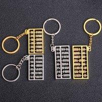 en iyi dişli hediye toptan satış-Metal 8-Gear 6-gear Abaküs Anahtarlık Yaratıcı Araba anahtarı kolye iş reklam Promosyon küçük Hediyeler toptan