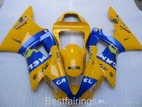 carenado en venta r1 yamaha al por mayor-ZXMOTOR Kit de carenado para la venta caliente para YAMAHA R1 2000 2001 azul amarillo carenados YZF R1 00 01 FH46