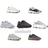 Wholesale best quality sports shoes resale online - 700 V2 Inertia Wave Runner Mens Women Designer Sneakers New Static Mauve Best Quality Kanye West Sport Shoes