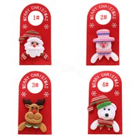 Wholesale hanger decor resale online - 4styles Christmas Tree Door hanger Hanging Pendant Ornament Christmas Decor For Home Hotel Door Xmas Gift Santa Decoration props FFA3138