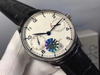 relógio automático português venda por atacado-Luxo ZFFF 316L Aço Português 7 Dias IW500710 SS / LE 52010 Automático Mens Watch Melhor relógios de Qualidade