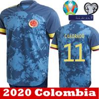 Wholesale james rodriguez jersey resale online - 2020 Colombia jersey Thai quality JAMES home away soccer jerseys Rodriguez FALCAO Camiseta de futbol CUADRADO Football shirts S XXL