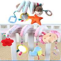 Wholesale teether hanging toys for sale - Group buy 2020 Brand New Newborn Baby Infant Animal Soft Rattles Teether Hanging Bell Plush Bebe Toys Doll Soft Bed Baby Gifts
