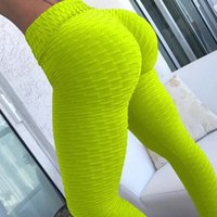 Wholesale sexy grey yoga pants resale online - High Waist Yoga Pants Women Push Up Skinny Workout GYM Leggings Shapewear Sexy Slim Running Tights Fitness Solid Leggings