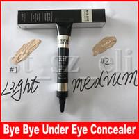 luz bb venda por atacado-Face Maquiagem Bye Bye sob corretivo Eye Creme BB Longwear Nutritivo Waterproof Primer Eye Concealer luz média 2 cores