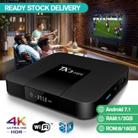 Wholesale android tv box blue resale online - TX3 Mini TV Box With Month IPTV Subscription Experience UK Sports Android Support Wifi H VS MXQ Pro