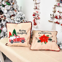 Wholesale high quality pillowcase resale online - Personality Square Home Decorative Pillow INS Fashion Christmas Party Creative Pillowcases High Quality Cloth Hotel Christmas Decor