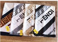 ingrosso cappotto giallo cappotti-2019 New Silk Scarf Women High Quality FEND Marca sciarpe di seta Sciarpe 180x90cm Sciarpe Pashmina Infinity Sciarpa Donna scialli 2clour
