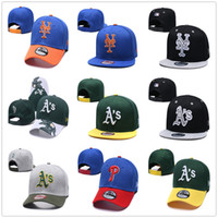 Wholesale snapback caps new york for sale - Group buy New York NY Mets Baseball Hat Oakland Athletics Baseball Snapback New Chapeau Era Philadelphia Phillies Baseball Cap Casquette
