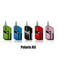 değişken voltaj mod kitleri toptan satış-100% Orijinal Curdo Polaris Buharlaştırıcı Mod Başlangıç Kiti 400 mAh Pil Değişken Gerilim Kutusu ile Seramik Bobin Kartuşu için Kalın Yağ Vape