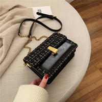 Wholesale burgundy scrubs for sale - Group buy Scrub Leather Weave Crossbody Bags For Women Fall Chain Shoulder Messenger Bag Female Chain Luxury Handbags And Purses