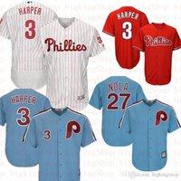 ingrosso pullover di baseball maestoso-Philadelphia 3 Bryce Harper Phillie Jersey 17 Rhys Hoskins 27 Aaron Nola Majestic basso freddo FlexBase Retro Baseball Maglie 20205