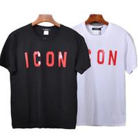 387c55b9b2 Estate nuova maglietta del progettista della maglietta di vendita calda  manica corta O collo maglietta di marca di grandi dimensioni bianco e nero