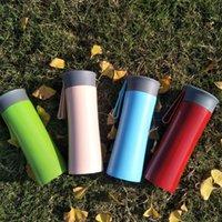 ingrosso corda della tazza-Personalizza LOGO 12 once tazze d'acqua in acciaio inox 300ml Vacuum bottiglie d'acqua studenti tazza regalo personalizzare tazza auto portatile con corda 01