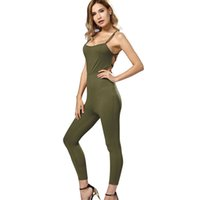 ingrosso jumpsuits a basso taglio-New Summer Fashion Sex Style Donna Low-cut Slip Bandage Backless Slim Jumpsuit Pagliaccetti