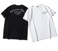 mejores camisetas de pareja al por mayor-Diseño clásico italiano kanye west Di Di manga corta Nuevo dar diseño Más vendido Alfabeto de moda Impreso Pareja camiseta cómoda