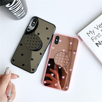 Wholesale rhinestone mirror for phones for sale – best Mirror Phone Case For iPhone S Cute Love Heart Soft TPU Phone Cover For iPhone X XS XR XMAX