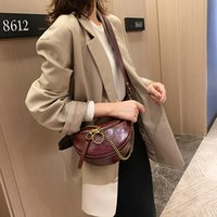 Wholesale cross shoulder cell phone bags resale online - Fashion Quality PU Leather Crossbody Bags for Women Chain Small Shoulder Messenger Bag Lady Travel Handbags and Purses