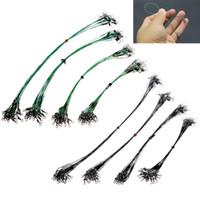 углеродная подкладка оптовых-20Pcs/Pack Fishing Tackle Lure Trace Wire 15cm 20cm 25cm 30cm Length High Carbon Stainless Steel Anti-bite Sub Fishing Line