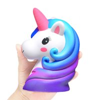Wholesale big phone tv resale online - 17CM Jumbo big Unicorn Squishy Doll Slow Rising Flying Horse Phone Strap Decompression Toys Stress Reliever Mobile Phone Straps SH190913